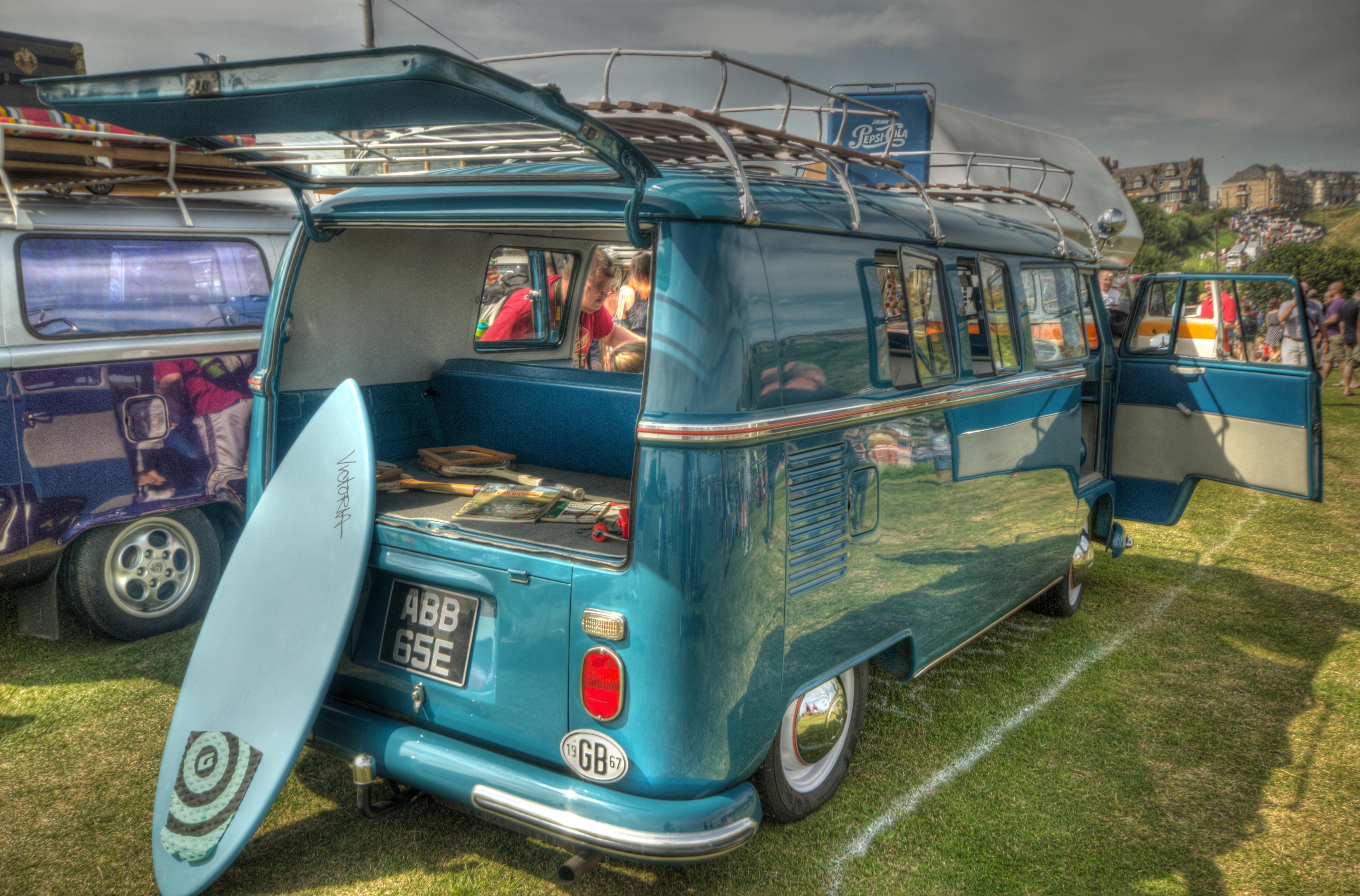 Blue surf VW Vansage home page image